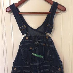 Vintage Key Bib Overalls in EXCELLENT Condition